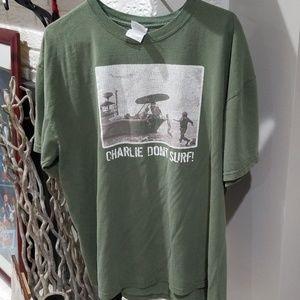 Vintage OG Charlie Don't Surf Apocalypse Now Shirt